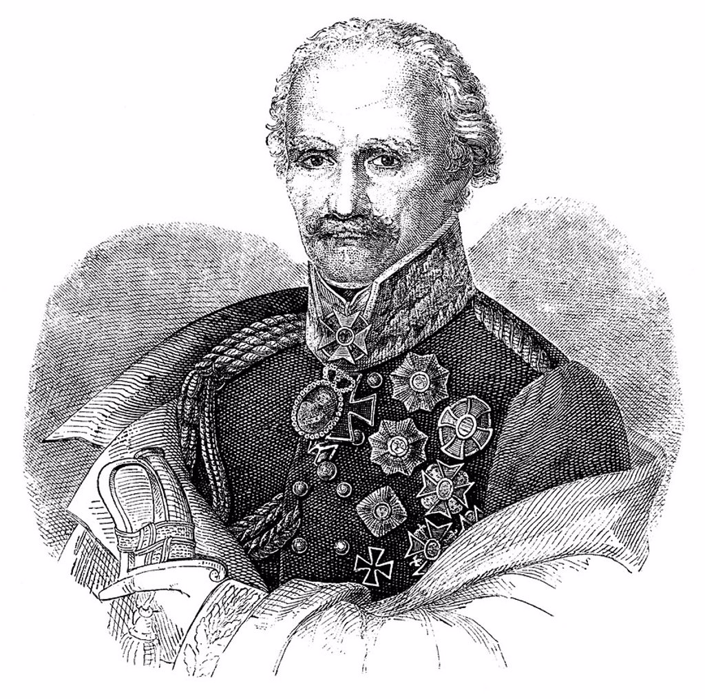 Stock Photo: 1848-751933 Historical illustration, portrait of Gebhard Leberecht von Bluecher, Prince of Wahlstatt, Marshal Forwards, 1742 _ 1819, a Prussian general field marshal, a war hero of the Battle of Waterloo