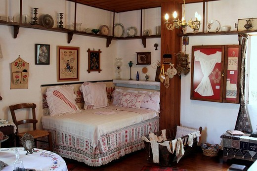 Stock Photo: 1848-7525 The beautiful room, wedding, Lychnostatis Open Air Museum, Museum of traditional Cretan life, Hersonissos, Crete, Greece, Europe