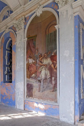 Frescoes, Assumption Cathedral, Goritsky monastery, Pereslavl_Zalessky, Russia : Stock Photo