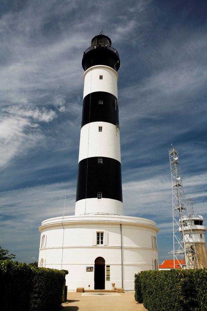 Phare de Chassiron lighthouse, Île d'Oléron island, Poitou_Charentes region, departement of Charente_Maritime, France, Europe : Stock Photo