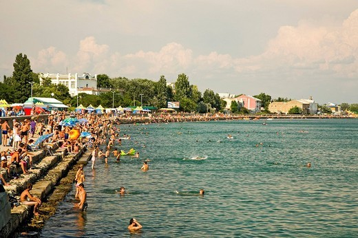 Stock Photo: 1848-75475 Beach Promenade, Yefbatoria, Crimea, Ukraine, South_Easteurope, Europe,