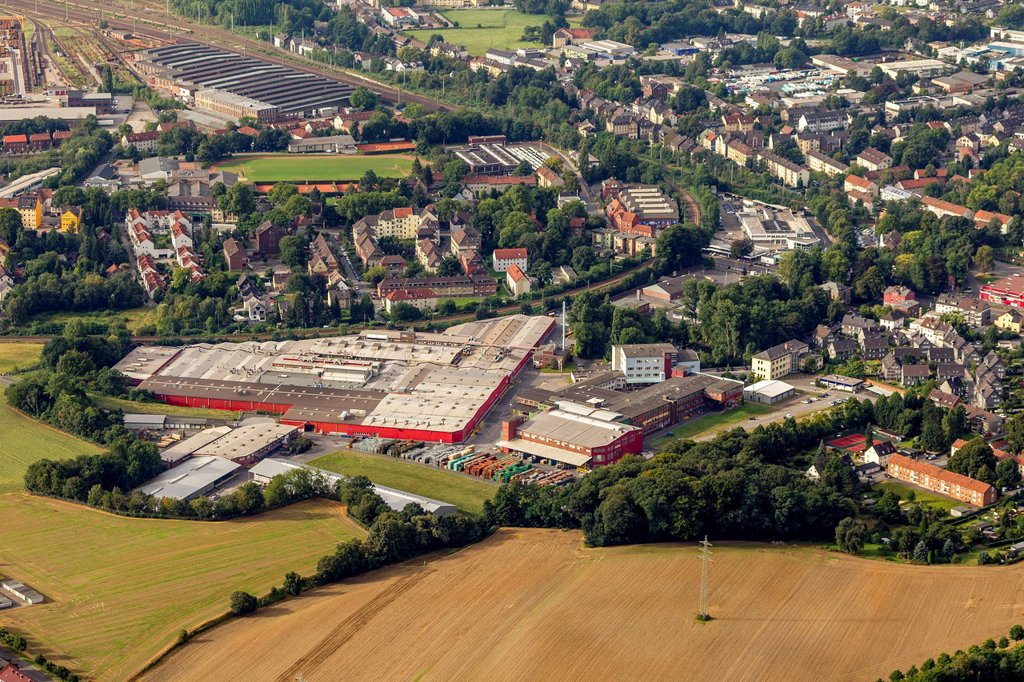 Stock Photo: 1848-755928 Aerial view, Pilkington Automotive Germany GmbH, Bochum, Ruhrgebiet area, North Rhine_Westphalia, Germany, Europe