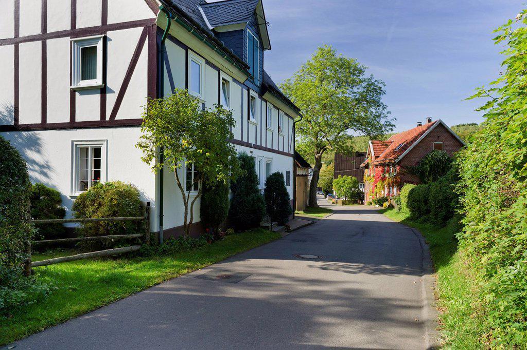 Stock Photo: 1848-756772 Birthplace of Johann Heinrich Jung, called Jung_Stilling, Hilchenbach, Siegerland region, Siegen_Wittgenstein district, North Rhine_Westphalia, Germany, Europe