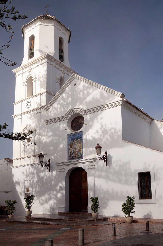 Stock Photo: 1848-764271 Church of Iglesia de El Salvador, Nerja, Costa del Sol, Andalusia, Spain, Europe, PublicGround