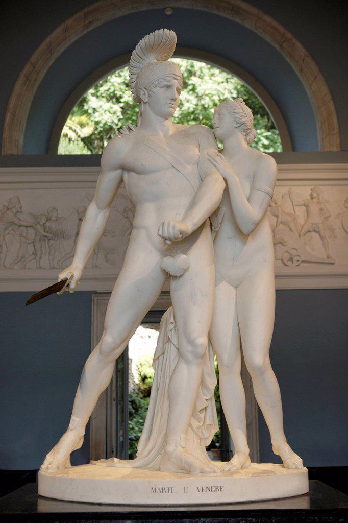 Sculpture of Mars and Venus, Villa Carlotta : Stock Photo
