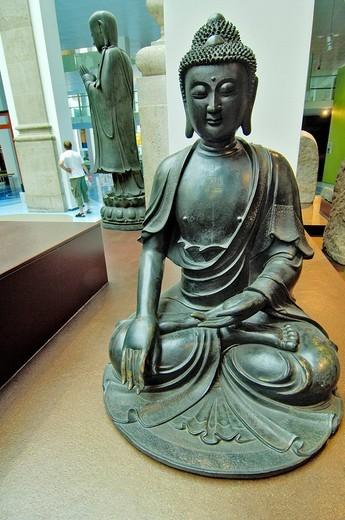 Buddah, China, bronze, Ueberseemuseum Bremen, Germany : Stock Photo