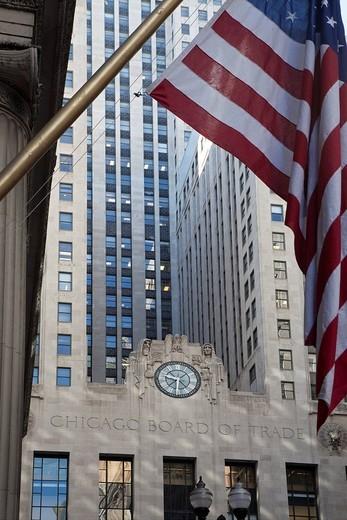 Stock Photo: 1848-77096 The Chicago Board of Trade, Chicago, Illinois, USA