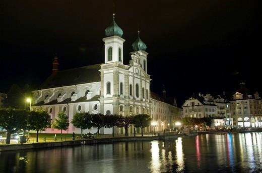 Stock Photo: 1848-77687 Jesuit Church, Lucerne, Switzerland