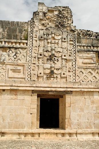 Cuadrangulo de las Monjas, quadrangle or square of the nuns, Maya archeological site Uxmal, Yucatan, Mexico : Stock Photo