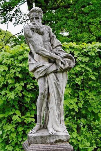 Statue Le Fleuve de Kouskova in the Koskovo Park, Kuskovo estate, Moscow, Russia : Stock Photo