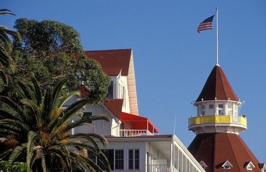 Stock Photo: 1848-79328 Detail of the Hotel Del Coronado in San Diego, California, America, United States