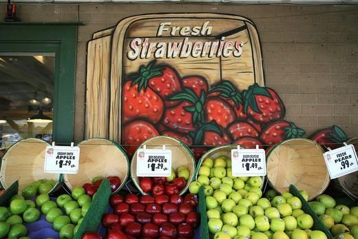 Fruit market in America : Stock Photo