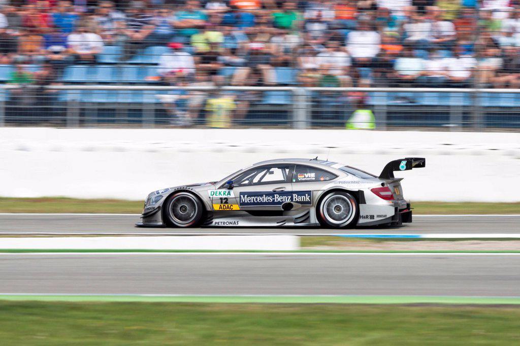 DTM race car of Christian Vietoris at the Hockenheimring race track, Baden-Wuerttemberg, Germany, Europe : Stock Photo