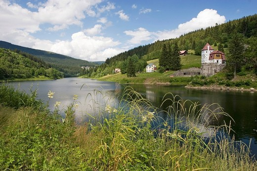 Stock Photo: 1848-79884 Reservoir, Spindleruv Mlyn, Karkonosze, Czech Republic