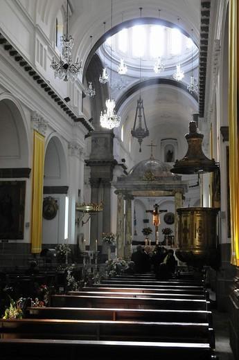 Catedral Metropolitana, interior view, Parque Central, Guatemala City, Guatemala, Central America : Stock Photo