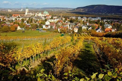 Stift and Monastery of Klosterneuburg in autumn, Austria : Stock Photo
