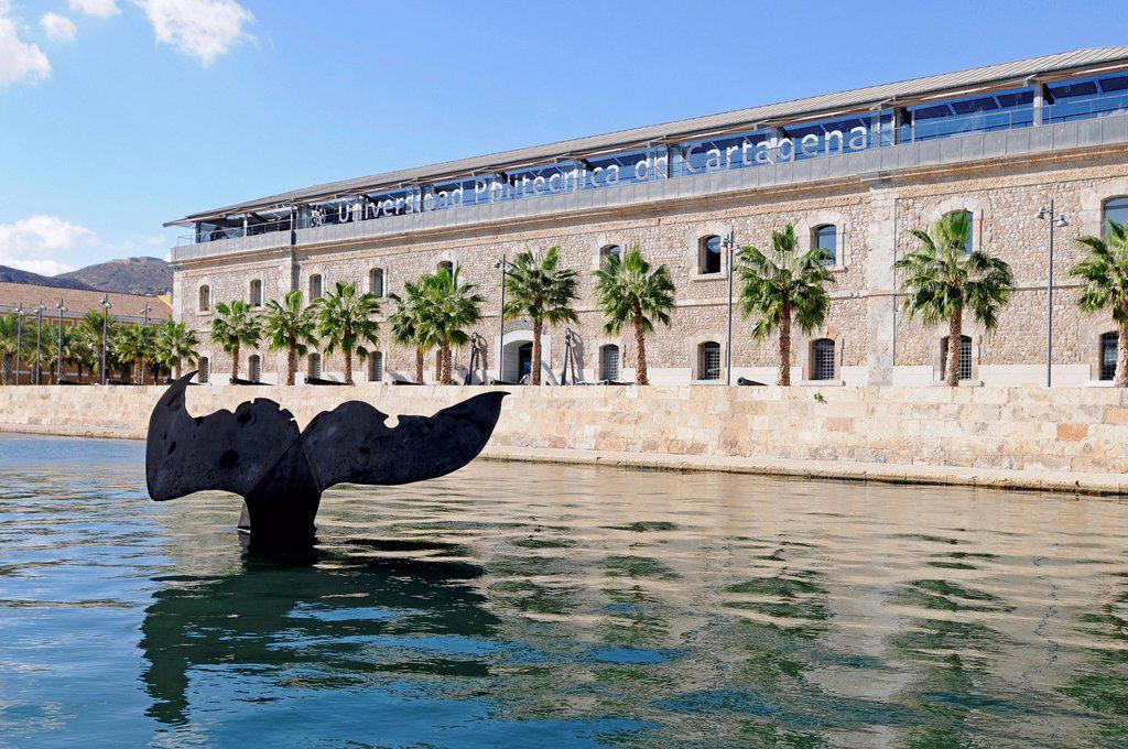 Cola de Ballena, sculpture by the sculptor Fernando Saenz de Elorrieta, Polytechnic University, Museo Naval, Marine Museum : Stock Photo