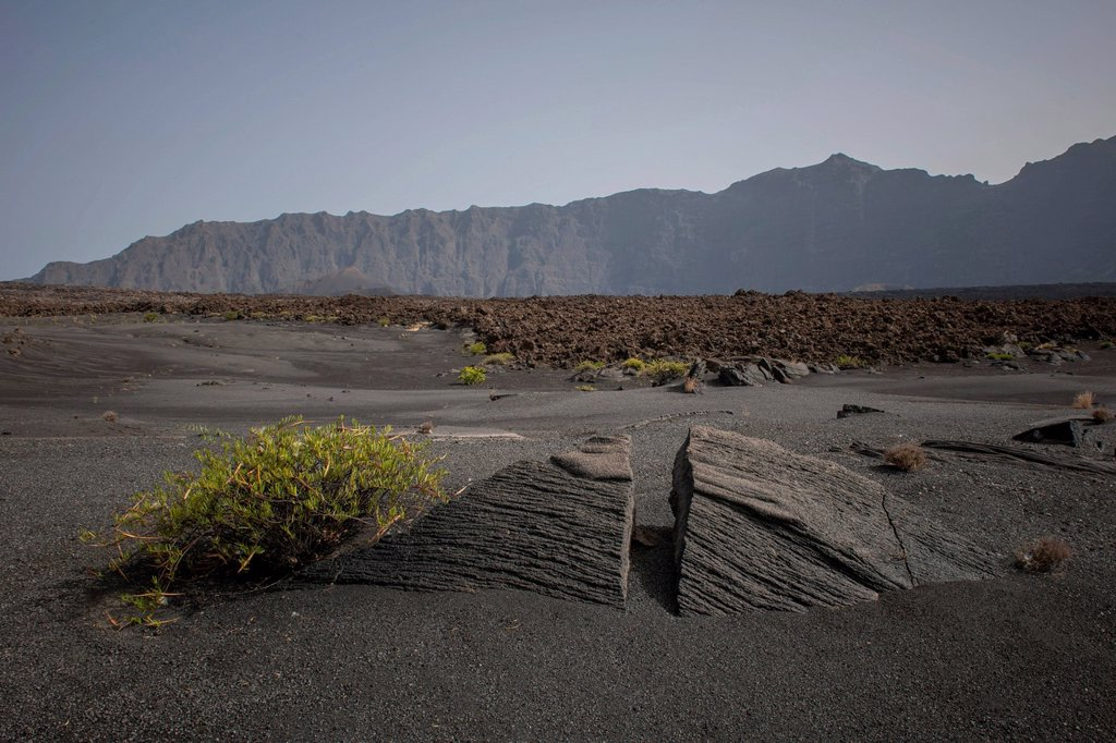 Stock Photo: 1848-816705 Volcanic rock and ash, Fogo National Park, Fogo island, Cape Verde
