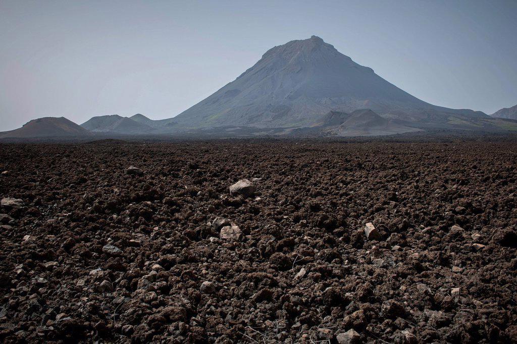 Stock Photo: 1848-816709 The volcano Pico do Fogo, Fogo National Park, Fogo island, Cape Verde