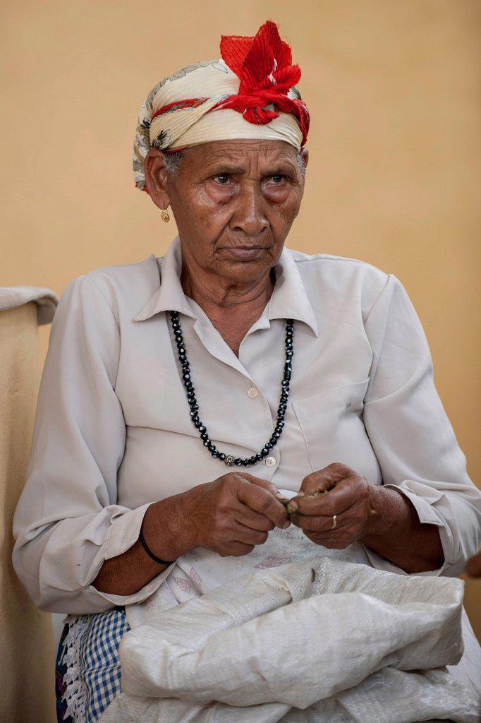 Stock Photo: 1848-817882 Elderly woman, Sao Filipe, Fogo Island, Cape Verde