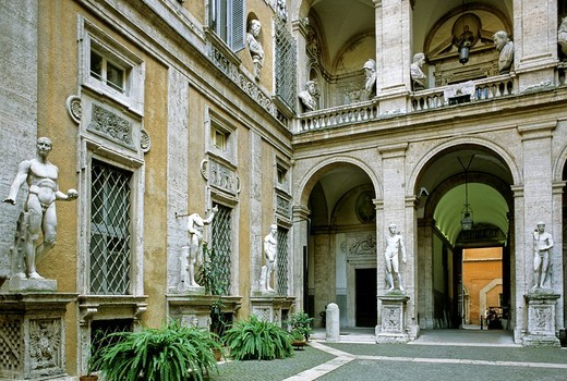 Stock Photo: 1848-82986 Palazzo Antici Mattei, Jewish Quarter, the former ghetto, Rome, Lazio, Italy, Europe
