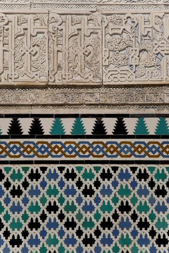 Stock Photo: 1848-83184 Alcazar, Arabian royal palace, tiles, mosaic, Barrio Santa Cruz, Seville, Andalusia, Spain, Europe