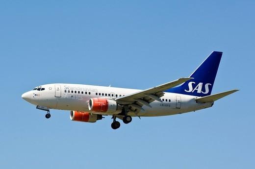 SAS Boeing 737_500, : Stock Photo