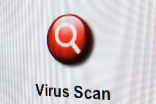 Screenshot Virus Scan : Stock Photo