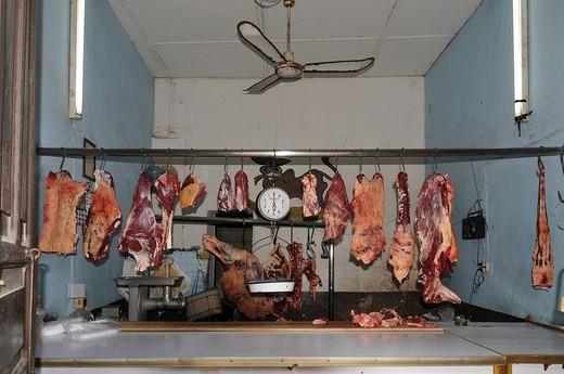 Stock Photo: 1848-84183 Butcher, Antigua Guatemala, Guatemala, Central America