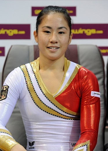 Kim Bui, Germany, portrait, Gymnastics World Cup Stuttgart 2008, Baden_Wuerttemberg, Germany, Europe : Stock Photo