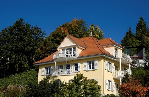 Holiday home near Meersburg, Baden_Wuerttemberg, Germany : Stock Photo