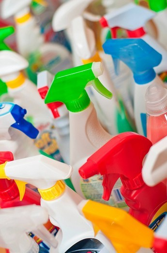Stock Photo: 1848-84931 Collection of household cleaners