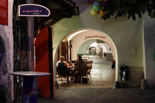 Stock Photo: 1848-85199 Arcade in Johannitergasse alley, Feldkirch, Vorarlberg, Austria, Europe