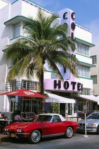 Stock Photo: 1848-8555 Colony Hotel, Ocean Drive, Miami, Florida, USA