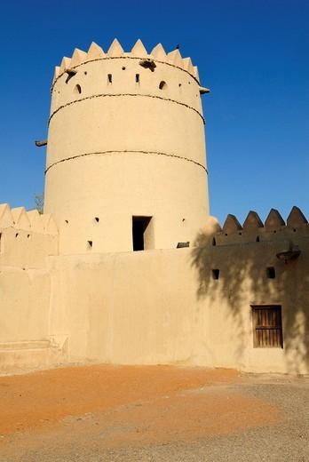 Sultan bin Zayed or Al Sharqi Fort at Al Ain Oasis, Emirate of Abu Dhabi, United Arab Emirates, Arabia, Middle East, Middle East : Stock Photo