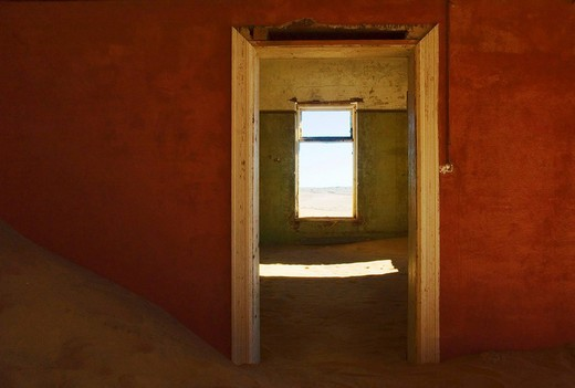 Kolmanskop, Ghost Town, former Diamond Mines, Luederitz, Namibia, South_West_Africa, Africa : Stock Photo