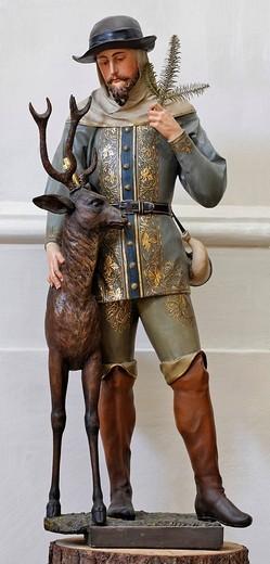 Statue, Mariazell Cloister, Klein_Mariazell, Triestingtal Triesting Valley, Lower Austria, Austria, Europe : Stock Photo