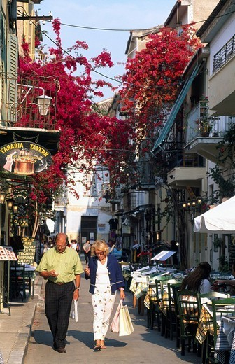 Historic centre of Nafplion, Peloponnese, Peloponesus, Greece : Stock Photo