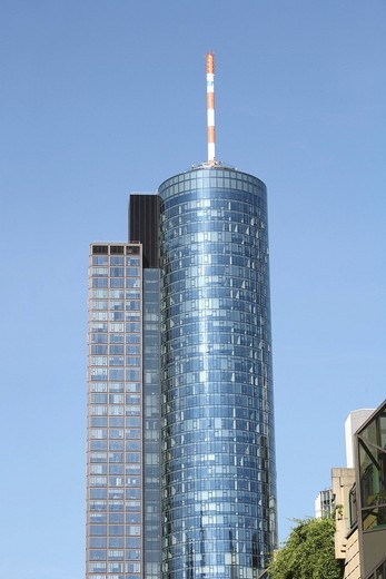 Maintower, Frankfurt am Main, Hesse, Germany, Europe : Stock Photo