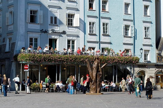 Stock Photo: 1848-88273 Tomaselli Cafe at the Old Market, Salzburg, Salzburger Land, Austria, Europe