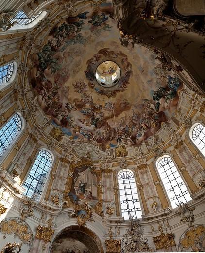 Baroque Ettal Benedectine Monastery, Ettal, Graswangtal Valley, Bavaria, Germany, Europe : Stock Photo