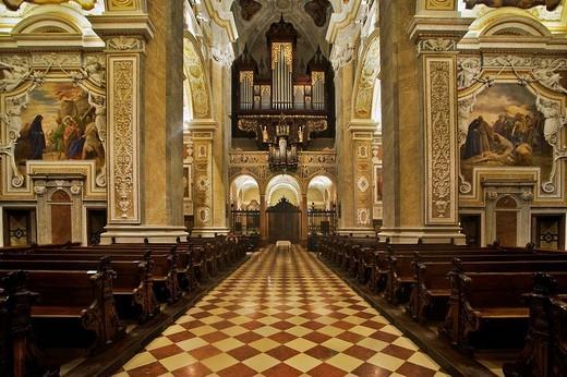 Stock Photo: 1848-88668 Baroque interior of the Collegiate Church in Klosterneuburg, Lower Austria, Austria, Europe