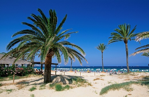 Playa d´en Bossa, Ibiza, Balearic Islands, Spain : Stock Photo