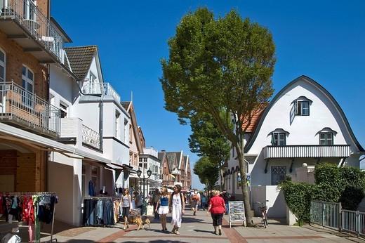 Stock Photo: 1848-88796 Pedestrian area, Wyk, Foehr, North Frisia, Schleswig_Holstein, Germany
