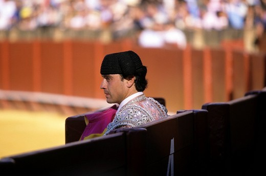 Stock Photo: 1848-89132 Matador, bullfight at the Plaza de Toros, Seville, Andalusia, Spain, Europe