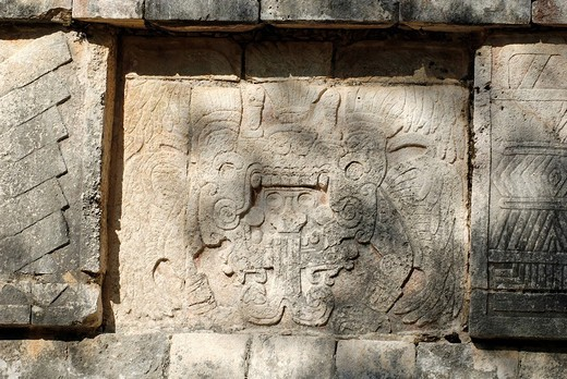 Stock Photo: 1848-89433 Maya and Toltec archeological site Chichen Itza, new worldwonder, Yucatan, Mexico