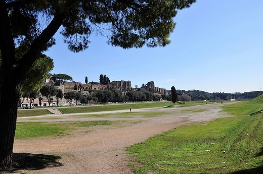 Circus Maximus hippodrome, Old Town, Rome, Italy, Europe : Stock Photo