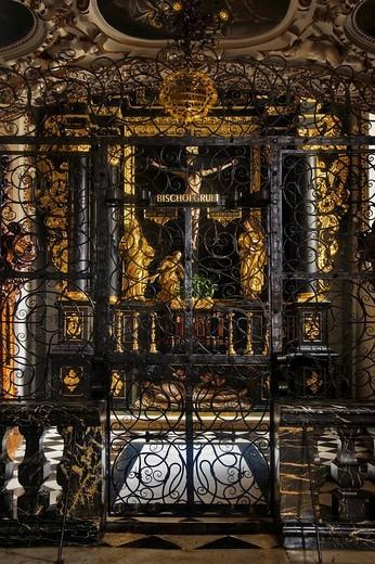 Stock Photo: 1848-9097 Bischop´s crypt in Graz Cathedral, Styria, Austria, Europe