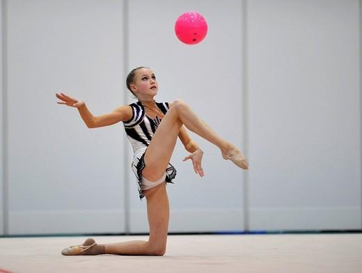 Christina Tschernischew, Germany, German RSG Rhythmic Gymnastics Championships, Frankfurt am Main, Hesse, Germany, Europe : Stock Photo