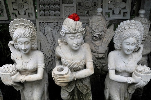 Stock Photo: 1848-90997 Balinese stone figurines, Sanur, Denpasar, Bali, Indonesia, Southeast Asia